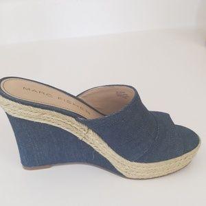 Jean Wedges. 4 1/2 inch heels.